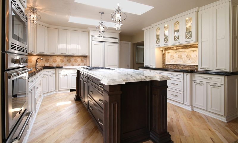 Henry White Kitchen Design With Marble Island