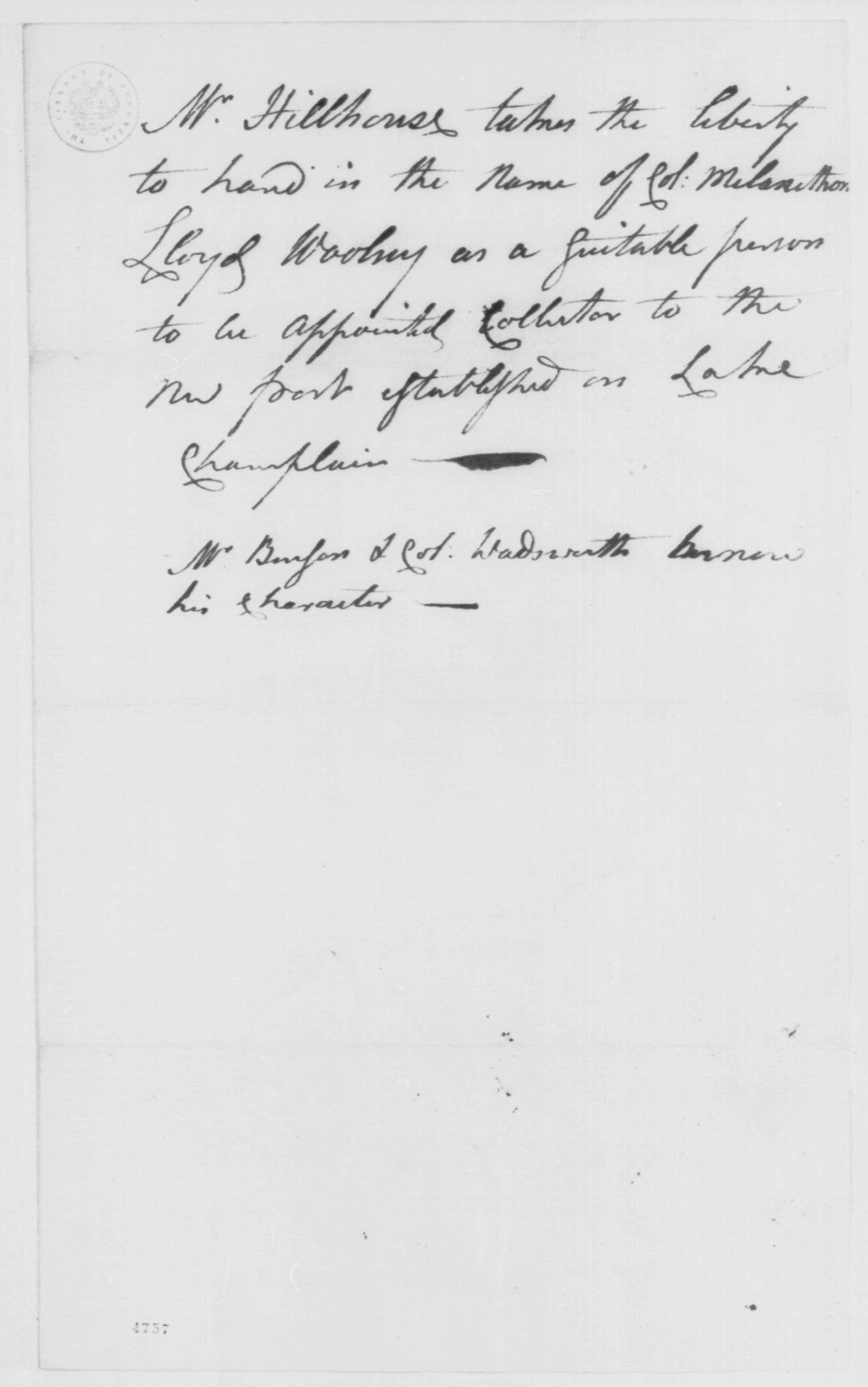 Alida Livingston and General Melancthon Lloyd Woolsey