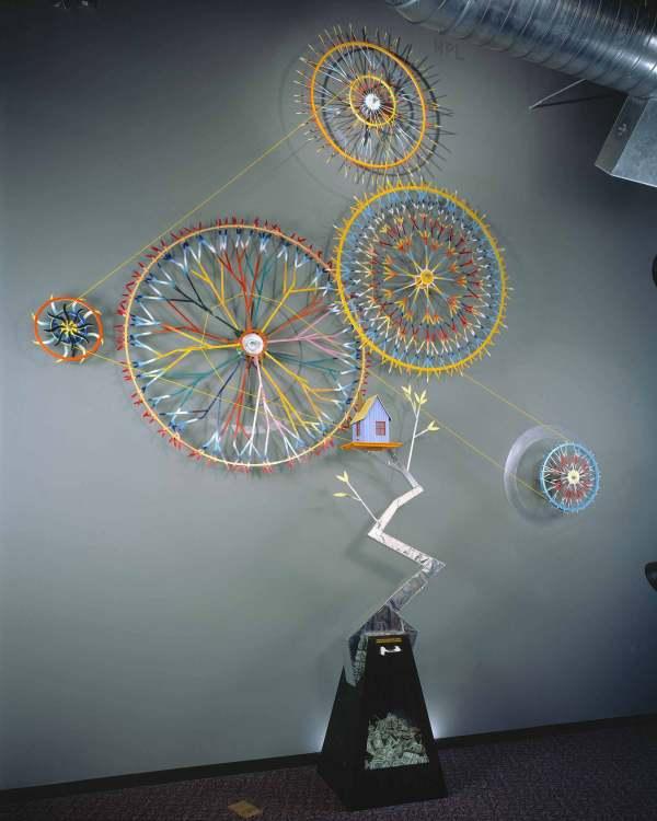 Interactive Kinetic Art Sculpture
