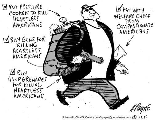 Henry Payne » Cartoon: Boston Bomber Welfare