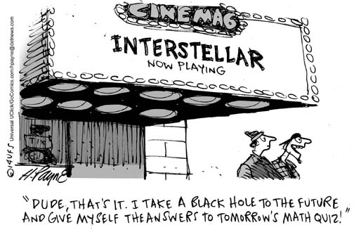 Henry Payne » Cartoon: Interstellar Math Quiz