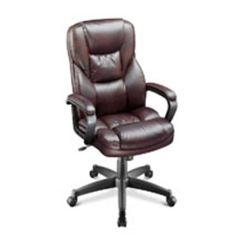 Realspace Fosner High Back Bonded Leather Chair Seat For Cabernet Ea Henry Schein 1192457 913614