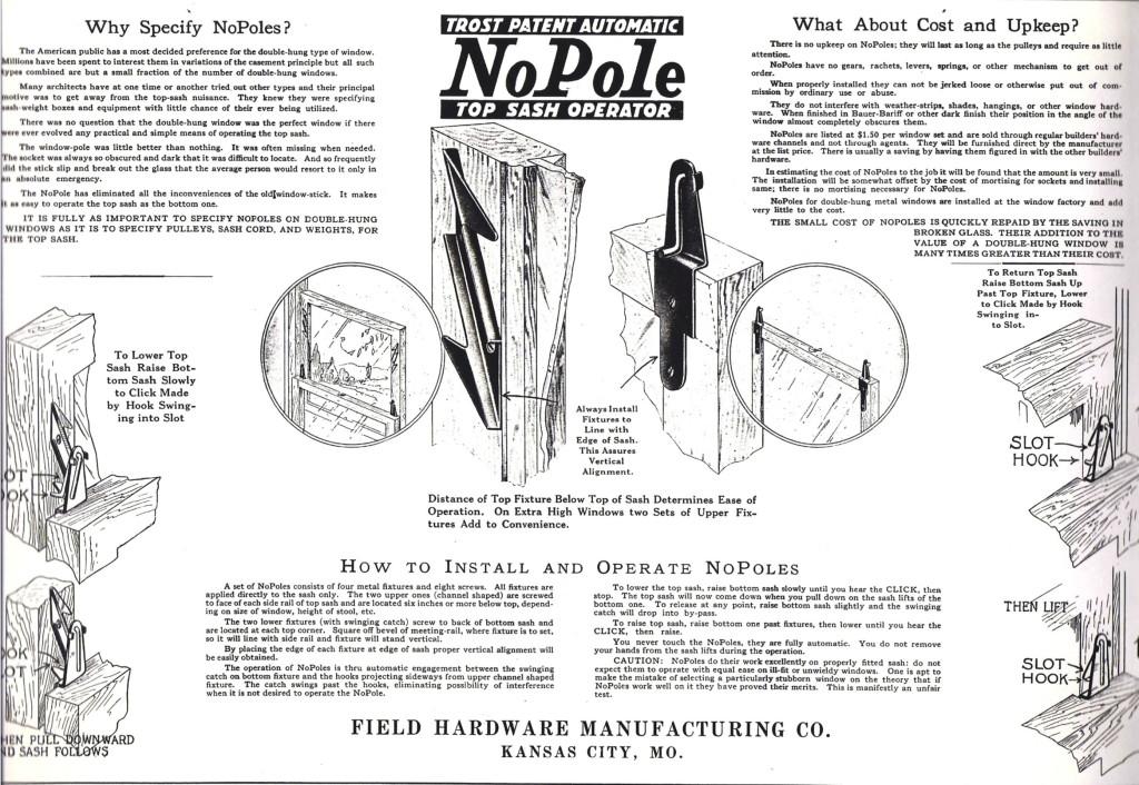 NoPole Top Sash Operator Brochure