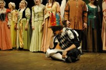 Jester and crowd - Henry VIII The Musical