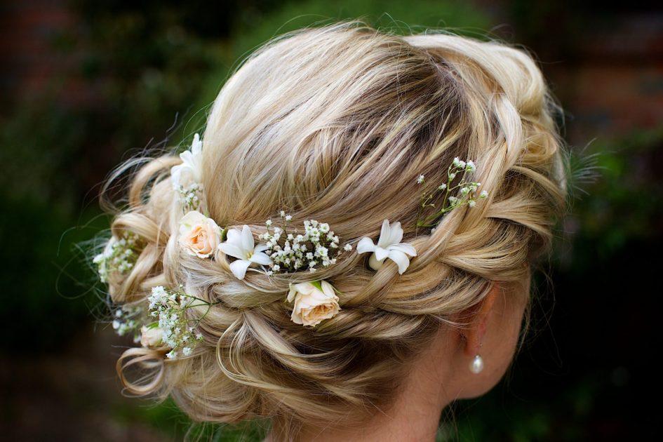 Sussex wedding photographer Henry Wells photographs beautiful wedding hair