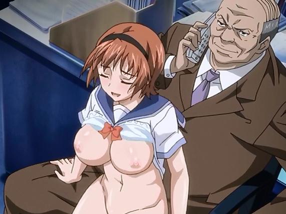 Hentai Schoolgirl Rides Perverts Hard Cock