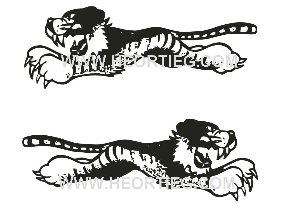Triumph leaping tigers