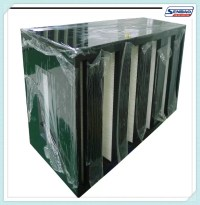 High Capacity Absolute Air Furnace Filter V Shape F5 - F9 ...