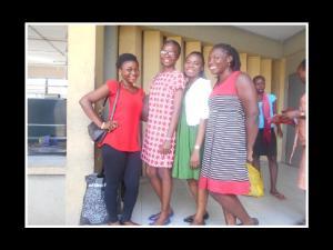 Bolaji, Teniola, Yvonne and I