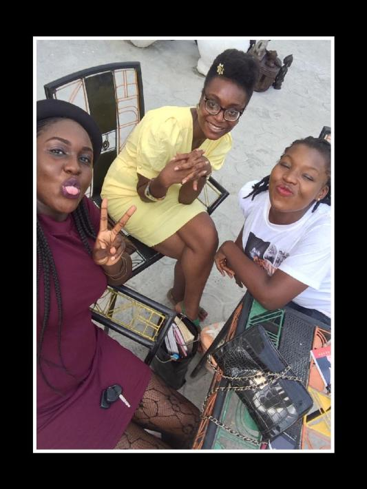 Adanna, Amaka and me at TWTW first meet