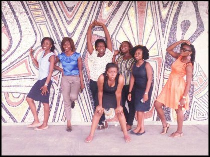 In front of National theatre Lagos, April Lagos Meet