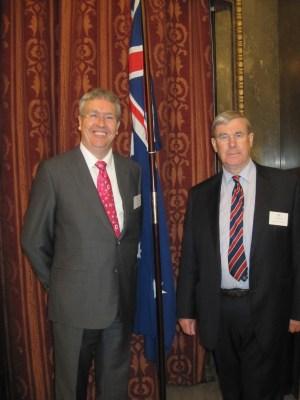 Paul Wellings with Sir Graeme Davies