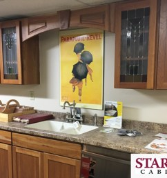 starmark cabinetry kitchen display at newark hep sales north main lumber 6592 route 31 [ 5261 x 2416 Pixel ]