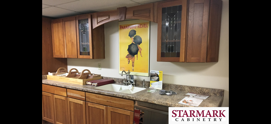 hight resolution of starmark cabinetry kitchen display at newark hep sales north main lumber 6592 route 31