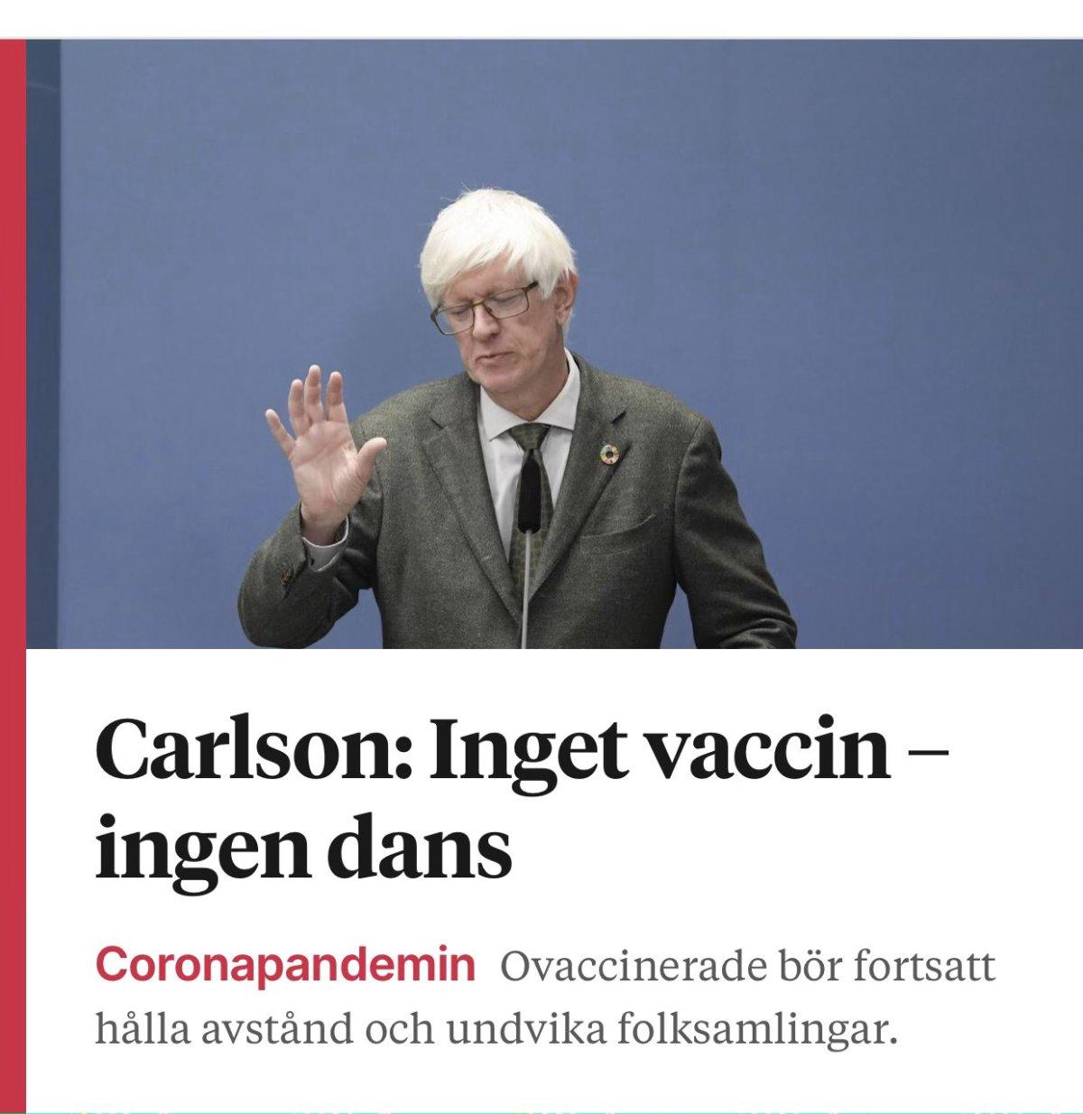 Inget vaccin – ingen dans!