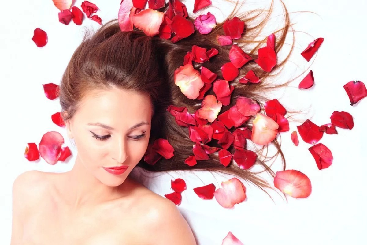 Rose water for hair feature