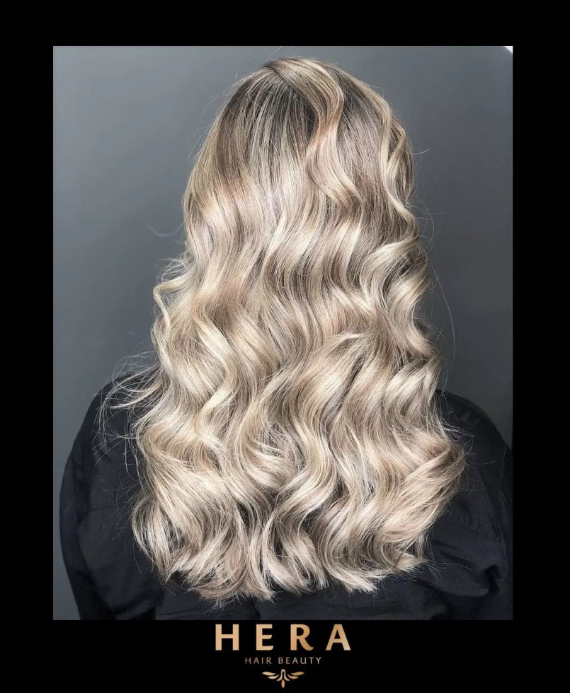 Shadow roots Vanilla blonde balayage