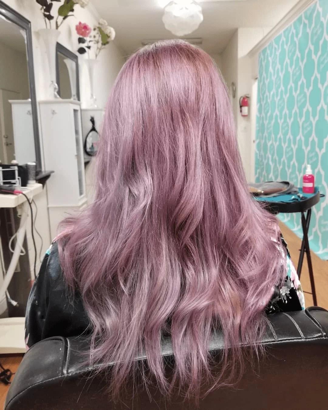 ash purple grey
