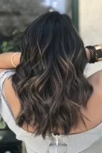 Mushroom Balayage on Dark Brown Hair