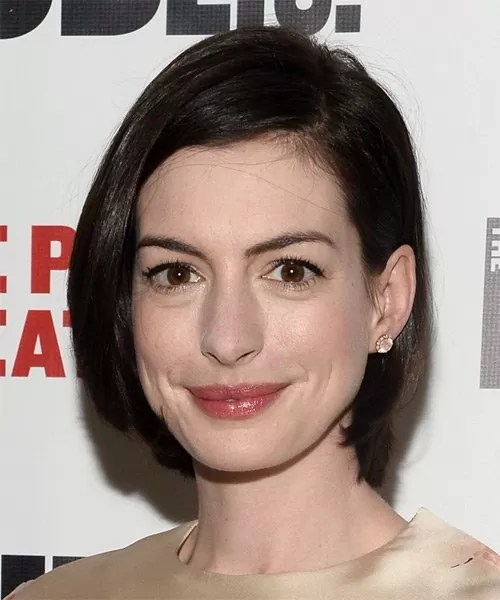 Image result for Anne Hathaway bob