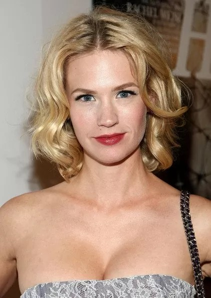 Image result for January Jones bob