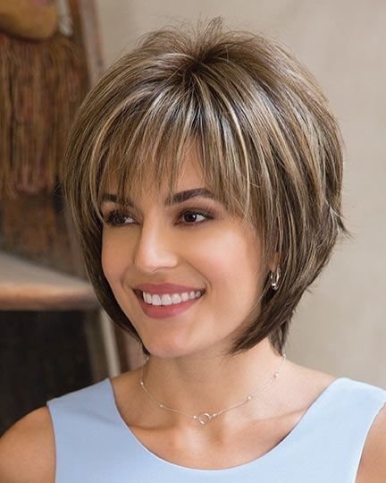 Image result for Short Layer Bob With Messy bangs