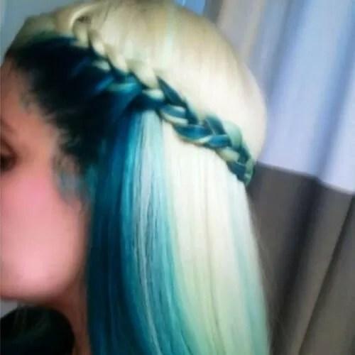 seafoam reverse ombre hair