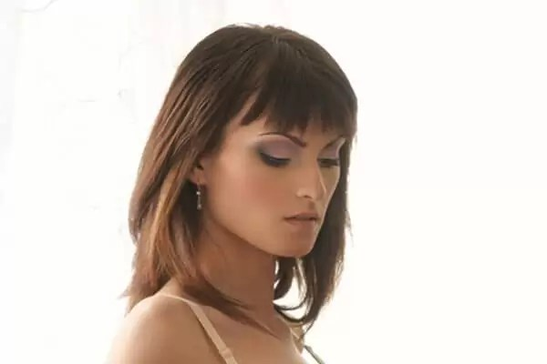 stunning bangs and long bob