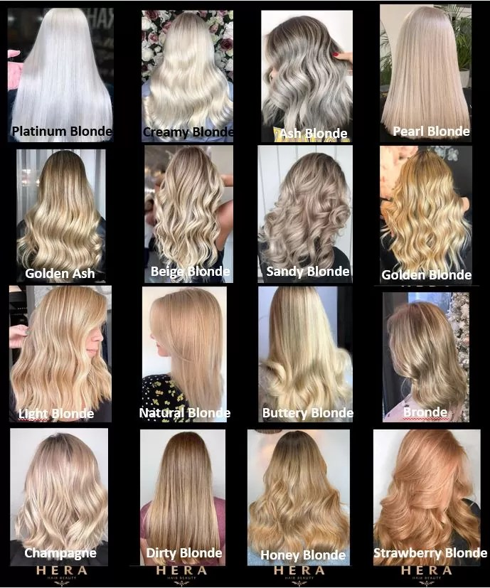 different types of blonde hair