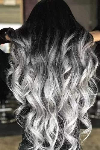 Salt And Pepper Ombre With Graphite Undertone #saltandpepperhair #ombre