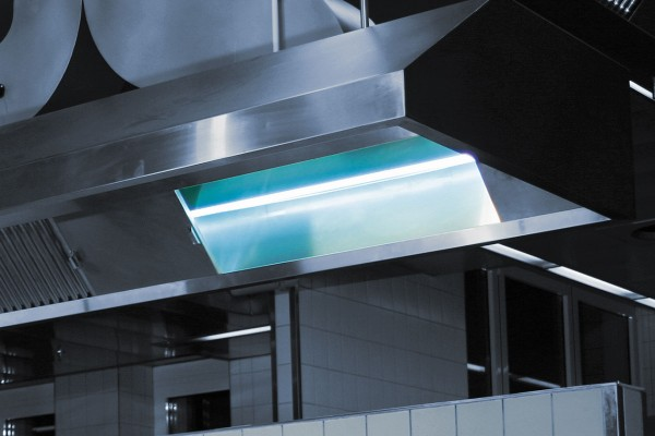 kitchen exhaust air cleaning with uv in