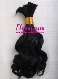 12 Inches Curly Black Indian Remi Braiding Hair