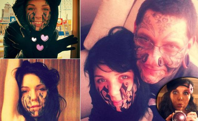 Girl Tattoos Her Boyfriends Name Across Her Face 24 Hours After
