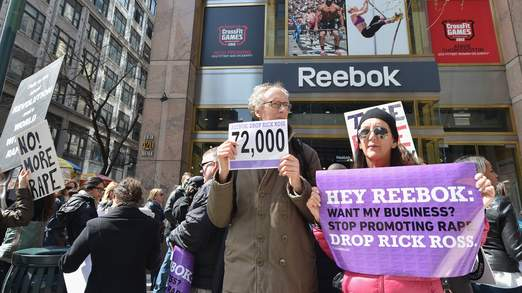 New York City Protest For Reebok To Fire Rick Ross