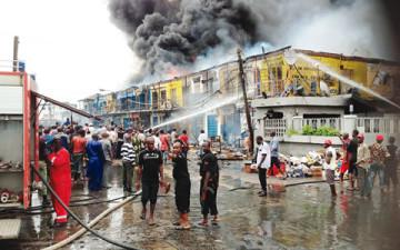 Balogun market on fire