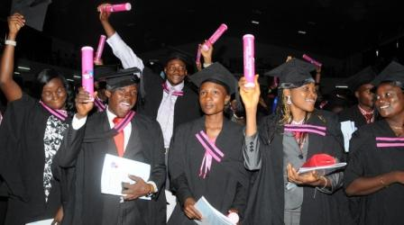 PIC. 24.  CROSS SECTION OF GRADUANDS OF LEAD CITY UNIVERSITY, AT THEIR 4TH CONVOCATION CEREMONY IN IBADAN ON THURSDAY (15/12/11).