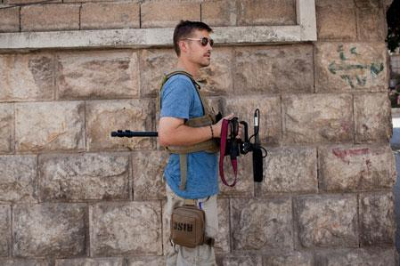 American photojournalist James Foley was shown beheaded Tuesday in a video put out by ISIS.  Nicole Tung/Reuters