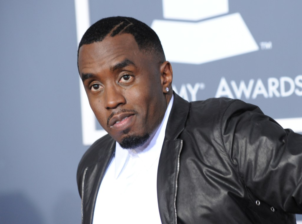 Diddy arrives at the 53rd Grammy Awards in Los Angeles