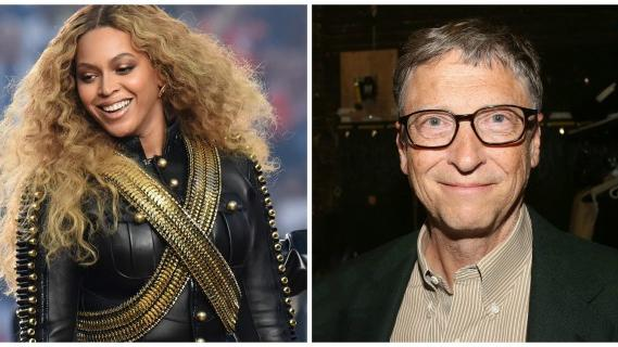 Beyonce and Bill Gates
