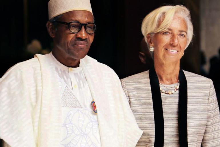 President Muhammadu Buhari and IMF President, Christine Lagarde