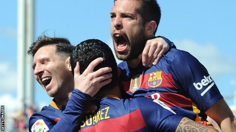 Barcelona has won the 2016 La Liga title