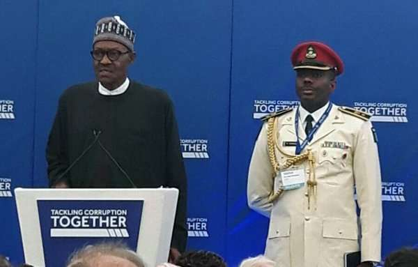 Buhari Speaks at Anti-Corruption Summit