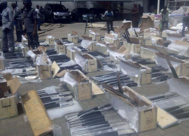 Image result for nigerian customs intercepts riffles