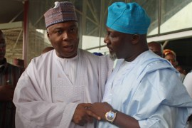 Saraki and Dino Melaye