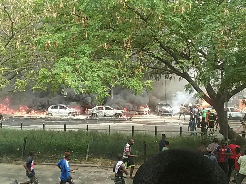 Video: Cars Burnt As Tanker Explodes In Festac