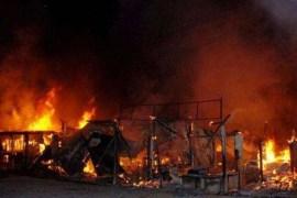 Fire at Ibadan sango Plank market