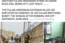 Fulani herdsman who burns his owner