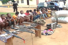 5 robbers who use charms paraded