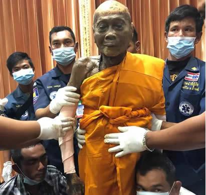 The dead monk
