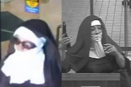 Two Women dressed as nuns robbing citizens bank